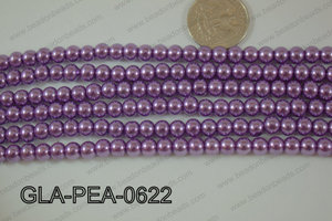 Glass Pearl Round 6mm purple GLA-PEA-0622
