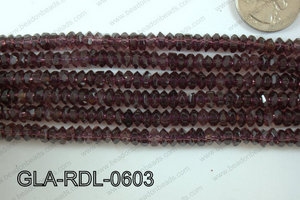 Glass Bead Rondel 6mm GLA-RDL-0603