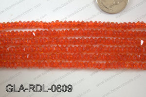 Glass Bead Rondel 6mm GLA-RDL-0609