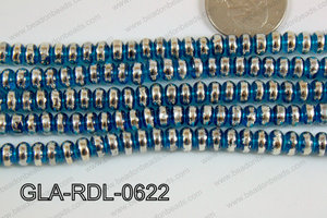 Glass Rondelle 6mm Blue GLA-RDL-0622