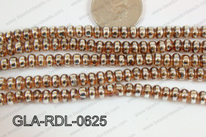Glass Rondelle 6mm brown GLA-RDL-0625