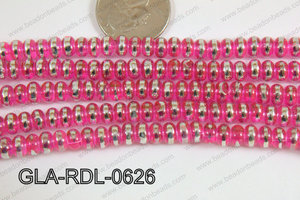 Glass Rondelle 6mm pink GLA-RDL-0626