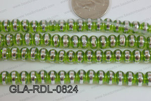 Glass Rondelle 8mm green GLA-RDL-0824