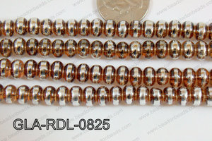 Glass Rondelle 8mm brown GLA-RDL-0825