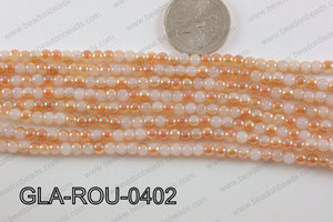 Glass Round Orange 4mm GLA-ROU-0402