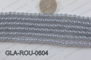 Glass Round Grey 6mm GLA-ROU-0604