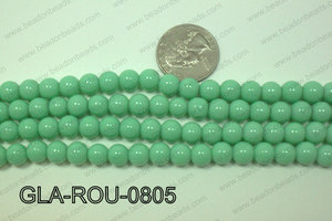 Glass Round Mint 8mm GLA-ROU-0805