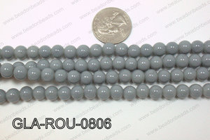 Glass Round Grey 8mm GLA-ROU-0806