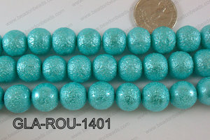 Glass Round 14mm Turquoise GLA-ROU-1401
