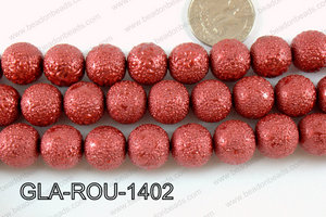 Glass Round 14mm Red GLA-ROU-1402