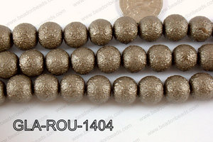 Glass Round 14mm brown GLA-ROU-1404