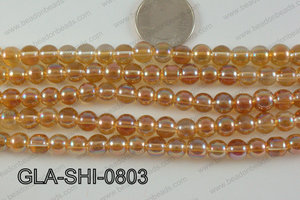 Shimmer Glass beads Orange 8mm GLA-SHI-0803