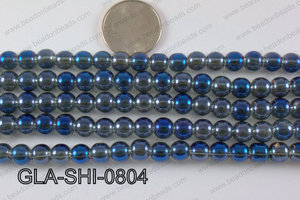 Shimmer Glass beads Teal 8mm GLA-SHI-0804