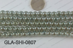 Shimmer Glass beads Green 8mm GLA-SHI-0807