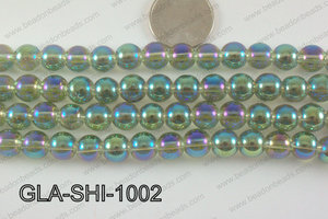 Shimmer Glass beads Green/Purple 10mm GLA-SHI-1002