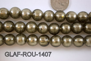 Foil Glass Bead Round 14mm 20pcs GLAF-ROU-1407