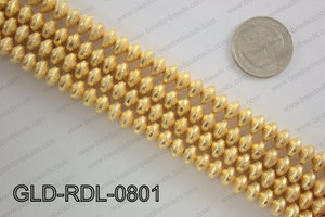 Gold plated copper rondelle beads 8mmGLD-RDL-0801