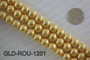 Gold plated copper round beads 12mmGLD-ROU-1201