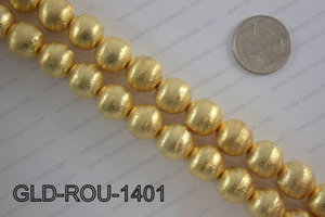 Gold plated copper round beads 14mmGLD-ROU-1401
