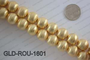 Gold plated copper round beads 16mmGLD-ROU-1601