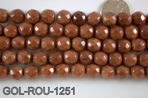 Gold Stone Round 12mm GOL-ROU-1251