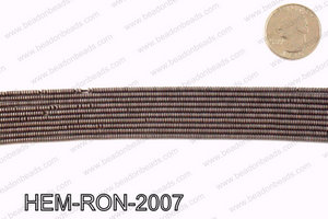 Matte metallic coated hematite 2x1mm HEM-RON-2007