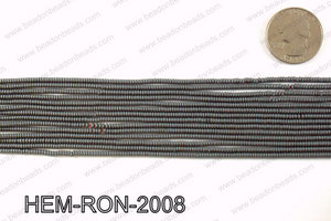 Matte metallic coated hematite 2x1mm HEM-RON-2008