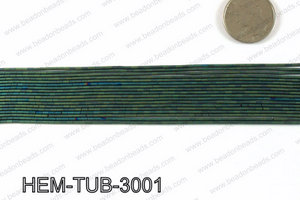 Matte metallic coated hematite 3x1mm HEM-TUB-3001