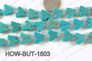 Howlite Butterfly 13x15mm HOW-BUT-1503