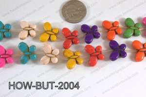 Howlite Butterfly Multicolor 15x20mm HOW-BUT-2004