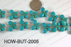 Howlite Butterfly Turquoise 15x20mm HOW-BUT-2005