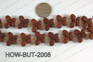Howlite Butterfly Brown 15x20mm HOW-BUT-2008