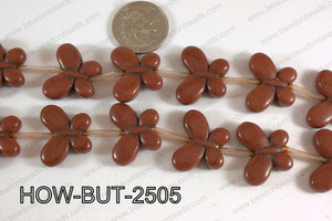 Howlite Butterfly Brown 20x25mm HOW-BUT-2505