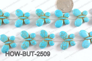 Howlite Butterfly Multicolor 20x25mm HOW-BUT-2509