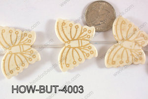 Howlite Butterfly 40x30mm HOW-BUT-4003