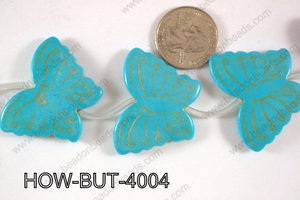 Howlite Butterfly 40x30mm HOW-BUT-4004