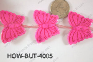 Howlite Butterfly 40x30mm HOW-BUT-4005
