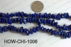 Howlite Chips Dark Blue 5x10mm HOW-CHI-1006