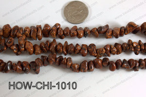 Howlite Chips Brown 5x10mm HOW-CHI-1010