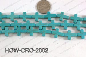 Howlite cross 15x20mm light blue HOW-CRO-2002