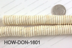 howlite donut shaped cream 16mm HOW-DON-1601