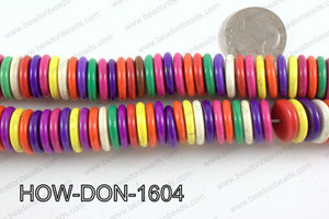 howlite donut shaped multicolor 16mm HOW-DON-1604