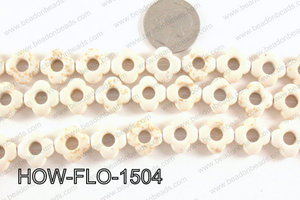 howlite flower cream 15mm HOW-FLO-1504