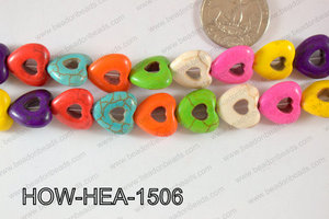 Howlite Heart 16mm HOW-HEA-1506