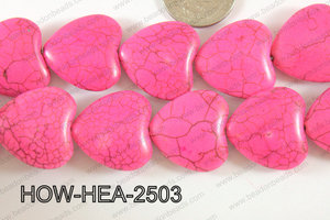 Howlite Heart 25mm Pink HOW-HEA-2503