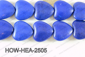 Howlite Heart 25mm D Blue HOW-HEA-2505