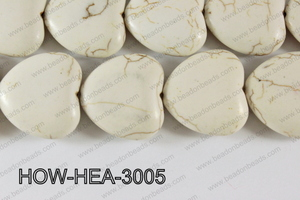 Howlite Heart 30mm HOW-HEA-3005