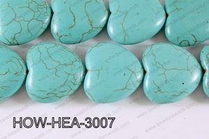 Howlite Heart 30mm HOW-HEA-3007