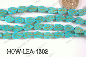Howlite Leaf 13x9mm HOW-LEA-1302