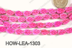 Howlite Leaf 13x9mm HOW-LEA-1303